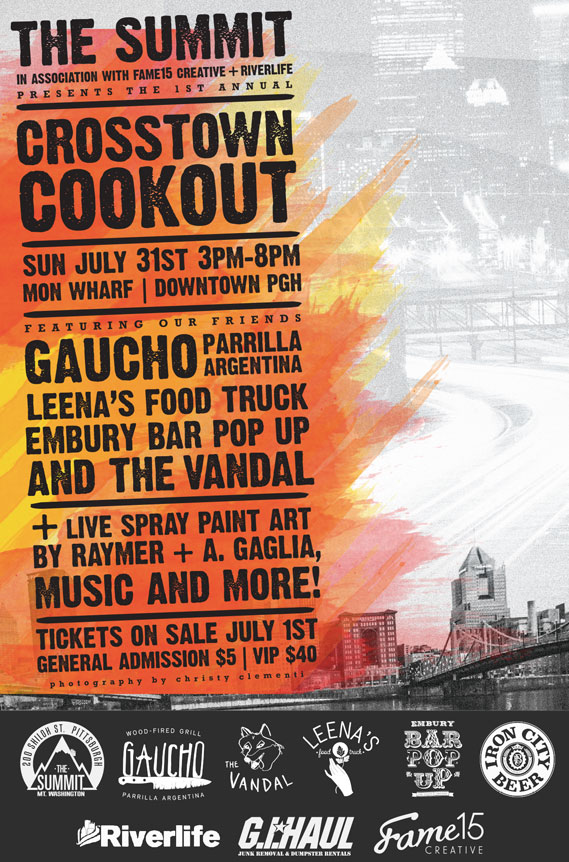 crosstown cookout summit poster