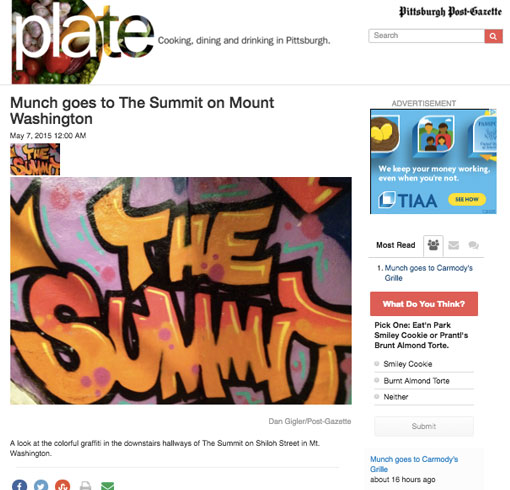 Munch goes to The Summit on Mount Washington