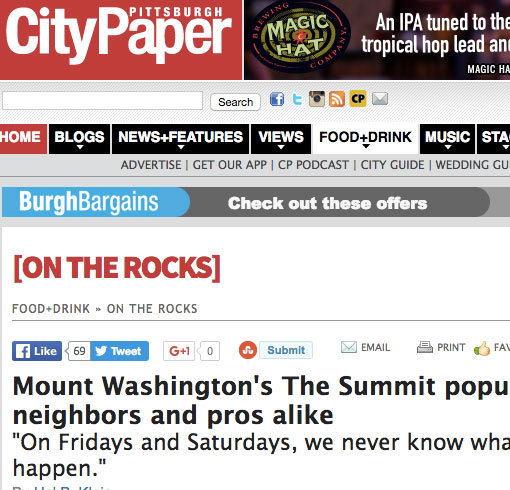 Mount Washington's The Summit popular with neighbors and pros alike